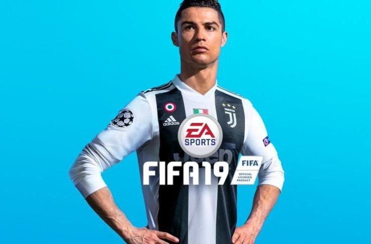 The FIFA cover featuring Cristiano Ronaldo